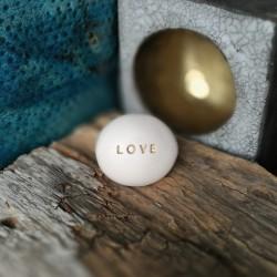 Magic Pebble - LOVE gold
