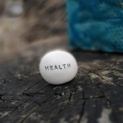 Magic Pebble - HEALTH silver gray