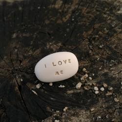 Magic Pebble - I LOVE ME gold