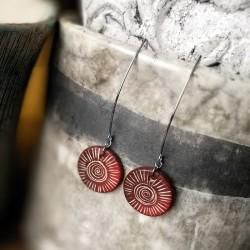 Kerámia fülbevaló - Napsugár