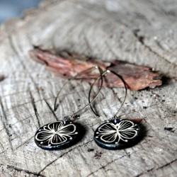 Kerámia fülbevaló - Pillangóvirág