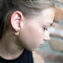 MINI SZÍV fülbevaló - arany