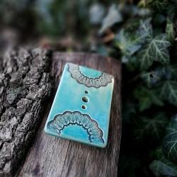 Szappantartó - mandalás pasztell kék