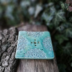 Szappantartó - zöld mandala