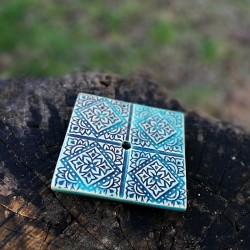 Szappantartó -  nyomott mintás, kék
