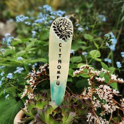 CITROMFŰ - Kerámia fűszer jelölő