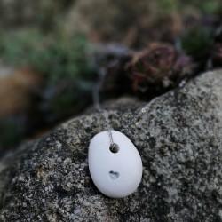 Szív medál lánccal - ezüst