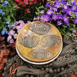 Keleties virág mintás kerámia tál
