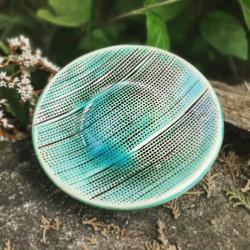 Apró pöttyös kézzel készített kerámia tál