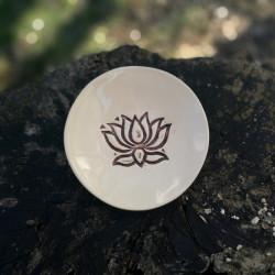 Kerámia tál - Lótuszvirág mintával