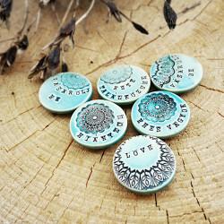 Kerámia dekor mágnes felirattal - ÉHES VAGYOK