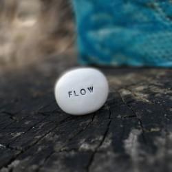 Magic Pebble - FLOW silver gray