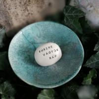 Varázskavics - BÜSZKE VAGYOK RÁD ezüst