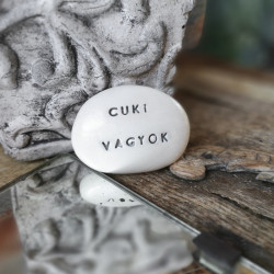 Varázskavics - CUKI VAGYOK ezüst