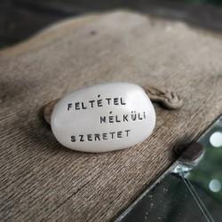 Varázskavics - FELTÉTEL NÉLKÜLI SZERETET ezüst