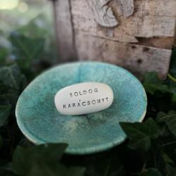 Varázskavics - BOLDOG KARÁCSONYT ezüst